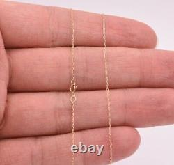 0.6mm Open Dainty Twisted Rope Chain Necklace Real Solid 10K Yellow Gold 16 18