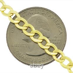 10K AUTHENTIC Yellow Gold 4.5MM Womens GENUINE Cuban Curb Link Chain Bracelet 7
