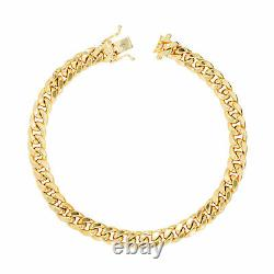10K Yellow Gold 3.5mm-17mm Real Miami Cuban Link Necklace Chain Bracelet 7- 30