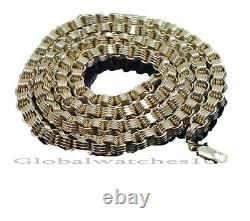 10K Yellow Gold Mens Necklace Byzantine Chain 28 Inch 10MM, Cuben, Rope, Box REAL