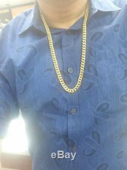 10k Gold miami cuban chain, 30inch, 8mm, Real 10kt Genuine Gold, Cuben, Rope, Franco