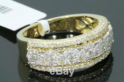 10k Solid Yellow Gold 1.79 Carat Real Diamond Engagement Ring Wedding Pinky Band