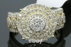 10k Solid Yellow Gold 2.01 Carat Real Diamond Engagement Ring Wedding Pinky Band