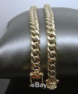 10k Yellow Gold 8mm Miami Cuban Chain 30 Necklace Box Clasp Real Gold