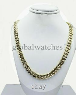 10k Yellow Gold Cuban Link Chain 22 8mm Box Lock REAL 10KT Necklace Pura Oro
