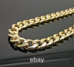 10k Yellow Gold Cuban link Chain 8mm 22 Necklace Box Clasp REAL 10kt Gold Men's