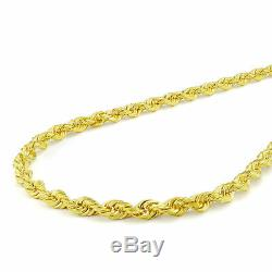 10k Yellow Gold Real Authentic 3mm Diamond Cut Rope Chain Bracelet Link WOMEN 7