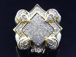 10k Yellow Gold The Claw Style Real Diamond Fashion Pinky Ring 1.25 Ct 21.8 MM