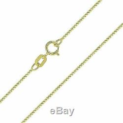 14K Solid Yellow Gold Box Necklace Real Gold Chain 16 18 20 22 24 26 30