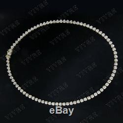 1.25 Ct Round Natural Diamond Women's Tennis 18 Necklace 10k Real Yellow Gold