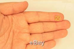 22K 22KT SOLID PURE REAL GOLD CLASP FOR 23K 24K baht NECKLACE. LOCK  Medium
