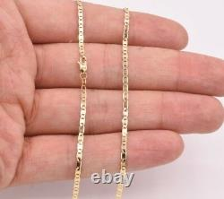 2.3mm Mariner Anchor Link Chain Necklace Real Solid 10K Yellow Gold