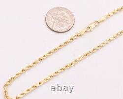 2.5mm Twisted Rope Chain Ankle Bracelet Anklet Real 10K Yellow Gold 10