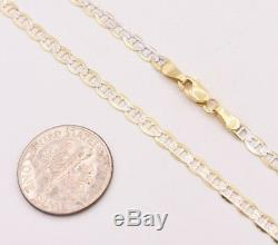 3mm Anchor Mariner Chain Pave Ankle Anklet Real SOLID 10K Yellow White Gold 10
