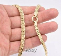 6mm Classic Shiny Byzantine Chain Necklace Real 10K Yellow Gold ALL SIZES