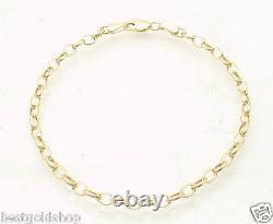 7 Ladies Oval Link Bracelet Real 14K Yellow Gold Great Gift Idea