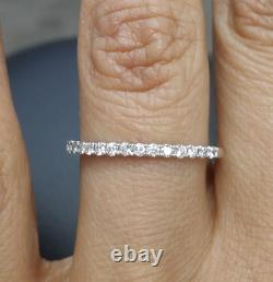 DEAL! Genuine 0.25 CT Natural Diamond Comfort fit Wedding Band Ring 14K Gold