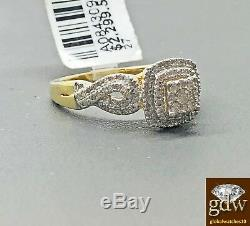 Diamond Ring For Ladies Solid 10K Gold Wedding, engagement 100% Real Gold Diamond
