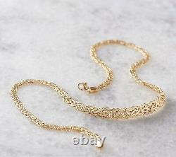 Graduated Byzantine Chain Necklace Real 14K Yellow Gold QVC 16 18 20