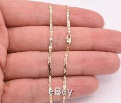 High Polished Mariner Anchor Anklet Chain Real 14K Solid Yellow Gold 10