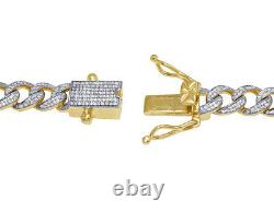Men's 10K Yellow Gold Real Diamond Miami Cuban Chain Necklace 9MM 5 1/2 CT 21