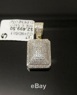 Men's Real 10K Yellow Gold & 1/2CT Genuine Brilliant Cut Diamond Charm Pendent N