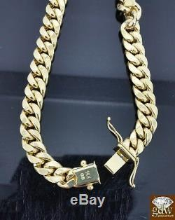 Men's Real 14K Yellow Gold Miami Cuban Bracelet 8.5 Inch 8mm Rope, Link, Chain, N