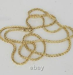 Mens Womens 10K Real Yellow Gold 1.5mm-2mm FRANCO Link Chain Necklace 16-30