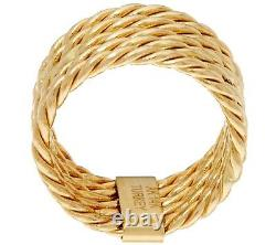 Polished 5-Row Rope Design Stack Ring Real 14K Yellow Gold QVC Sz 5 8