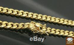 REAL 10k Gold Men 6mm Miami Cuban Chain Necklace Box Clasp Lock 30 Inch 10kt, N