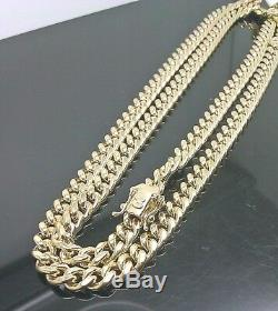 REAL 10k Yellow Gold Cuban Necklace Chain Box Clasp 28 inch 8mm Strong link Men