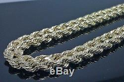 REAL 10k Yellow Gold Rope Chain 6mm, 26 Inch, Lobster lock, Men's Cuban, Franco N