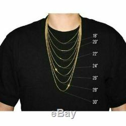 Real 10K Yellow Gold 2mm Diamond Cut Rope Chain Pendant Necklace 18'