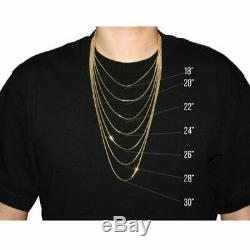 Real 10K Yellow Gold 2mm Diamond Cut Rope Chain Pendant Necklace 24'