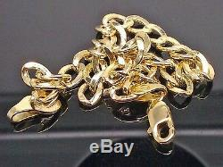 Real 10K Yellow Gold Cuban curb Link Bracelet 5mm 8 Inch, Rope, Franco, Unisex, N
