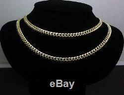Real 10 K Yellow Gold Mens Miami Cuban Chain Necklace 28, 5 mm, Franco, Rope N