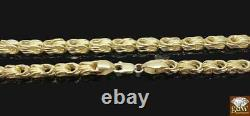 Real 10 k Yellow Gold Byzantine chino Chain necklace 5 mm 28 Inch, Rope, Cuban, N