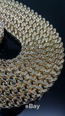 Real 10k Yellow Gold Franco Chain Necklace thick 5mm 24 Inch, New, rope, cuban N