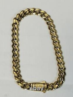 Real 10k yellow Gold Royal Miami Cuban Bracelet 8 Inch Solid Strong