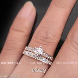 Real Genuine Natural Diamonds Solid 9ct Yellow Gold Engagement Wedding Rings Set