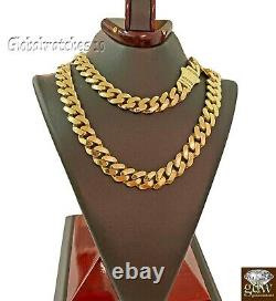 Solid10k Gold Mens Miami Cuban Royal Link Chain 26 inch 16mm Real Gold