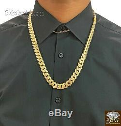 Solid 10k Gold Men Miami Cuban Royal Link Chain 22 inch 10mm Real Gold