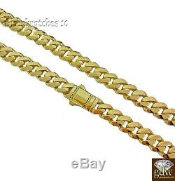 Solid 10k Gold Mens Miami Cuban Royal Link Chain 20 inch 9mm, Real Gold