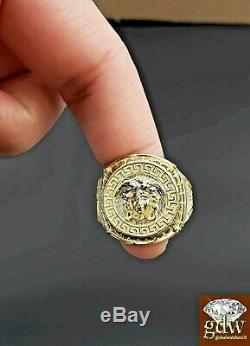 Solid Gold Ring Medusa Head Size 11 Real 10k Yellow Gold Men's Ring, REAL GOLD
