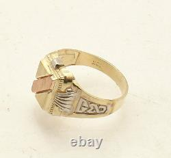 Sz 7.5 Men's Engravable Pinky Signet Ring Real Solid 14K Yellow White Rose Gold